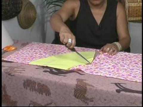 Making a Custom Lamp Shade : Cutting the Fabric for a Custom Lamp Shade