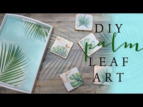 DIY Palm Leaf Art   DIY Room Decor
