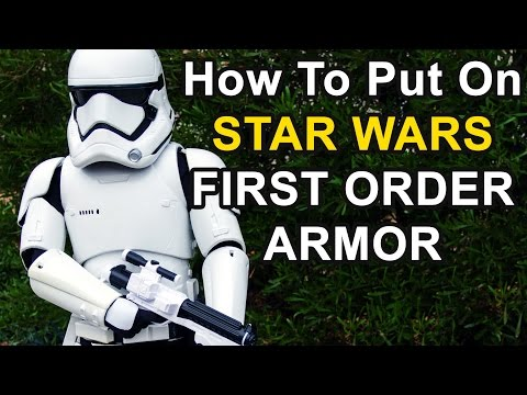 How To Put On First Order Armor From Star Wars