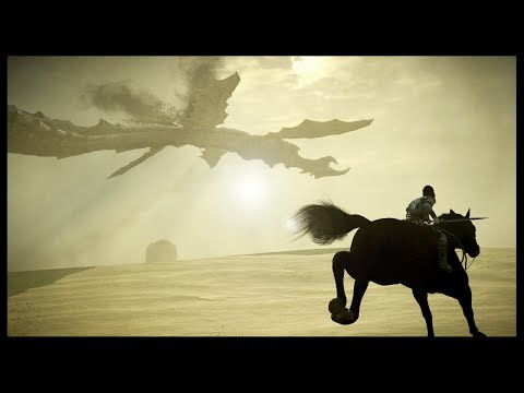 GIANT MILK DRAGON OF THE SKY   Shadow Of The Colossus PS4 Remake - Gameplay Part 9