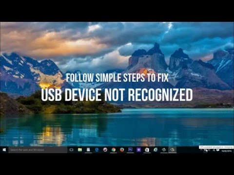 USB Device Not Recognized Solution 2
