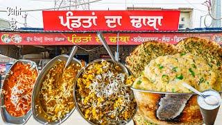 24 hr OPEN | World Famous Pandita da DESI DHABA | Street Food India | Best Desi Food