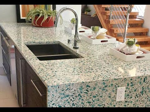 Recycled Glass Countertops Ideas