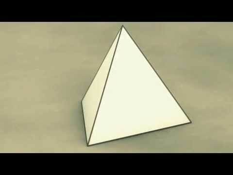 Net of Solid Shapes - Tetrahedron / Тетраедр / Тетраэдр