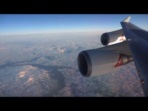 Qantas 747-400 BUSINESS Class: New York - Los Angeles - Sydney (QF18)