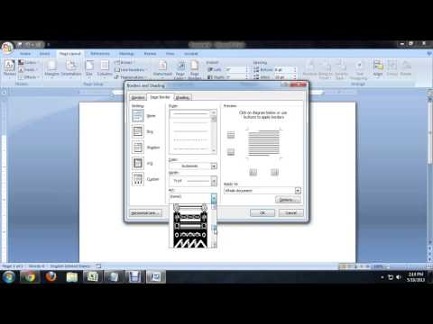 How to Create a Frame for a Page in Microsoft Word : Tech Niche