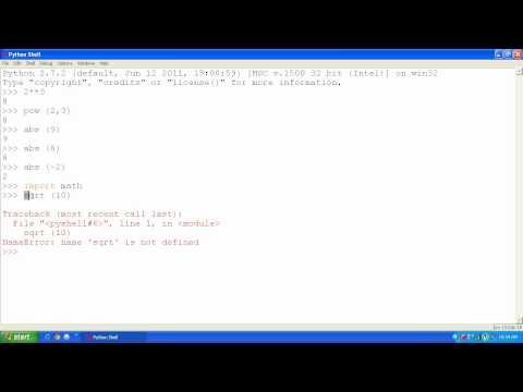 Python - 04 - Importing Math Module