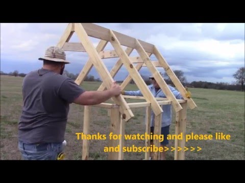 How to build a truss for a chicken coop (EASY)
