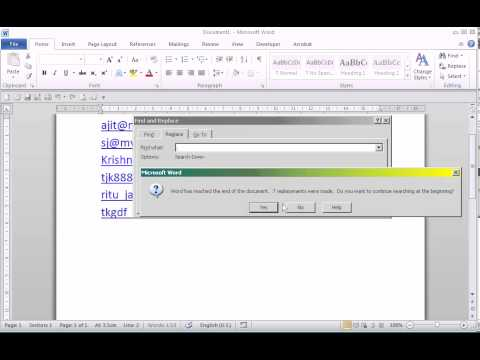 Mukunda Software - How to Replace multiple semicolon with comma in MS-Word