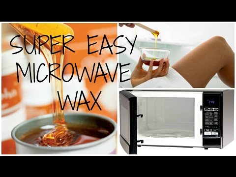 SUPER EASY 3 INGREDIENT MICROWAVE WAX!