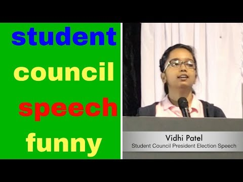 student council speech funny ideas school election campaign Vidhi Patel use this speech for head boy