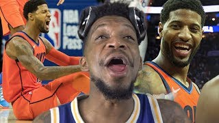 PG SAVES THE DAY AGAIN!! THUNDER vs SIXERS HIGHLIGHTS REACTION