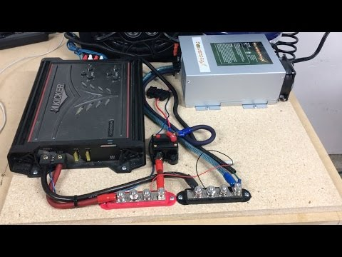 Building a Garage Audio System Part 3: Wiring Bus Bars, Amp, Power Supply