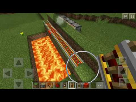 Minecraft pe v15 how to make a piston trap of train