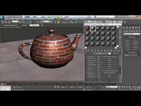 3D Max Material Editor Tutorial: Applying Textures, Bump & Reflection to Object