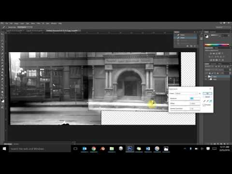 How to manually merge photos in Adobe Photoshop