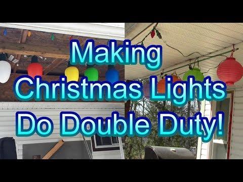MakingChristmas Lights Do Double Duty