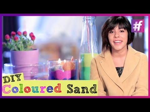 How to Make Coloured Sand at Home | DIY with Swati