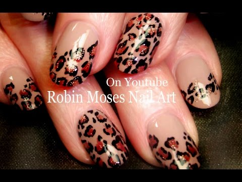 Easy Leopard Print Nails | Tan and black Traditional Nail Art Design Tutorial