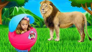 Sasha plays with real Animals and turns into Pets