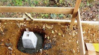 土留め 基礎工事 束石の設置 (DIY) 【物置増築工事】