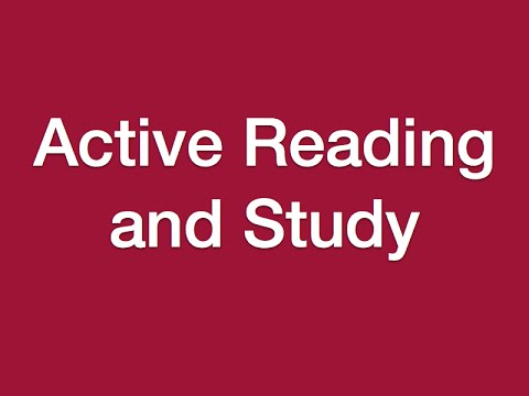 Lesson 10 - Active Reading and Study