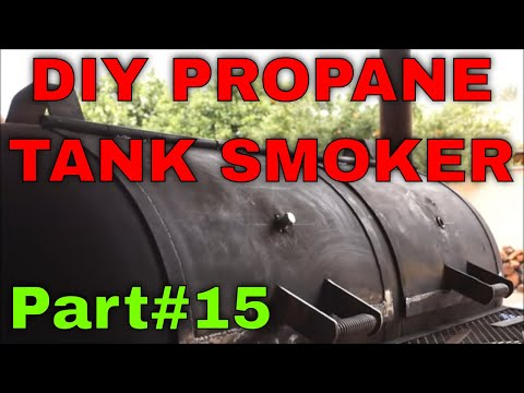 Propane tank smoker / grill trailer build Part 15