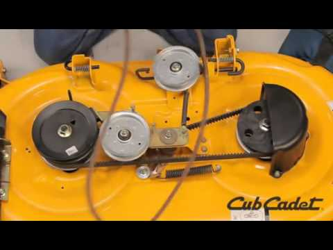 How to Change the PTO Belt on a Cub Cadet Riding Lawn Mower