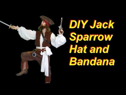 DIY Jack Sparrow Costume Part 4: Bandana and Hat