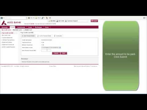 How to pay credit card bill online in Axis Bank-42 sec