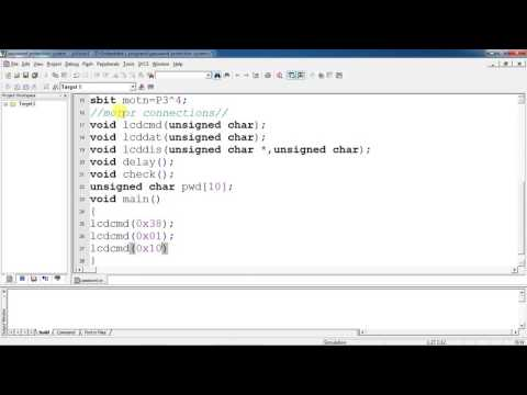 Embedded c program for Password protection  using 8051 microcontroller with Keil proteus simulation