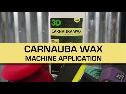 How to apply exterior car wax protection with a machine.
