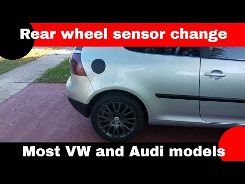 How to change the wheel sensors on a MK5 Rabbit and the majority of the Volkswagen and Audi line up