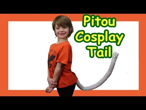 Cosplay How to make a Cat Tail tutorial - Hunter x Hunter Pitou - Day 591   ActOutGames