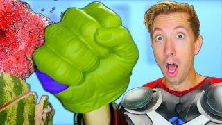 10 Thor Ragnarok Weapons Tested in Real Life 🗡 Marvel Avengers vs Fruit Ninja