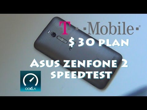 T-Mobile $30 plan with Asus Zenfone 2 speed test