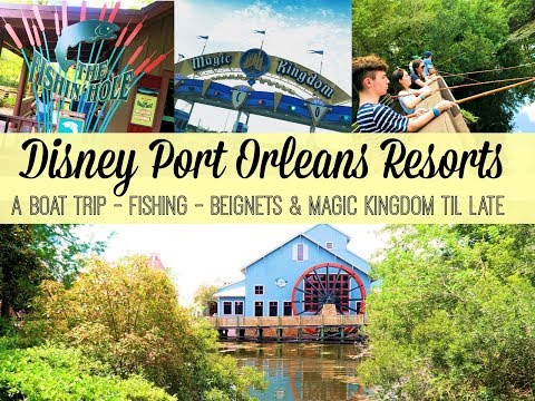 DISNEYWORLD VLOG // Boat Trip to Port Orleans Resorts // Disney Fishing & Magic Kingdom