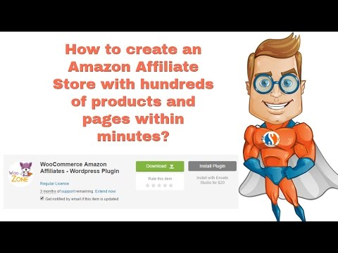 How to create an Amazon Affiliate Store in hours - Tutorial