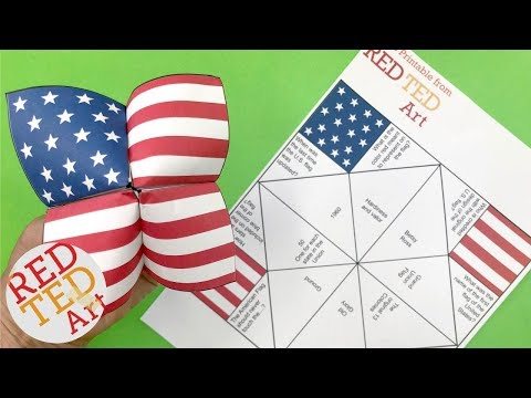 American Flag Cootie Catcher Printable and Quiz!