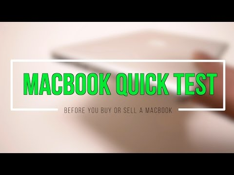 Quick Test Before Buying or Selling a Macbook
