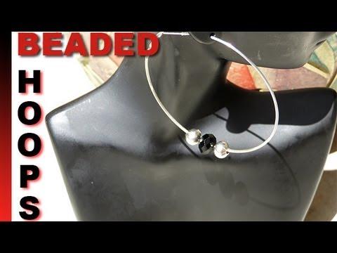 How to Make Easy Beaded Hoop Earrings 2 Ways| Beginner Level ♥