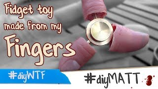 Download Finger spinner fidget toy made with real fingers Video