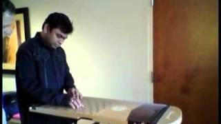 A R Rahman with New Music Instrument Harpejji K24