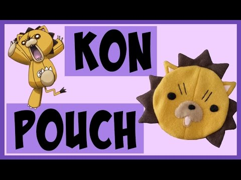 DIY Kon Zipper Pouch   Anime Inspired Crafts