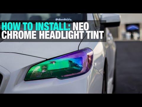 HOW TO: Install Neo Chrome Headlight Tint Film   2015 Subaru
