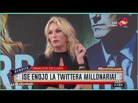 ¡Se enojó la twittera millonaria!