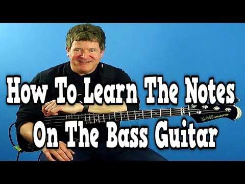 How To Learn the Notes On the Bass Guitar | Beginner Bass Lessons