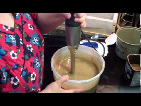 Making Coffee Soap