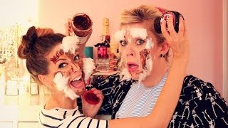 The Household Makeup Challenge with Louise   Zoella