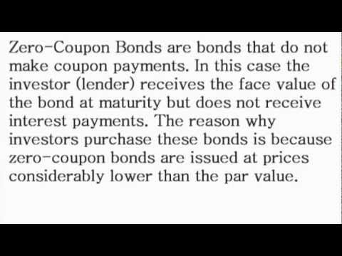 Zero-Coupon Bond - What is the Definition? - Financial Dictionary by Subjectmoney.com